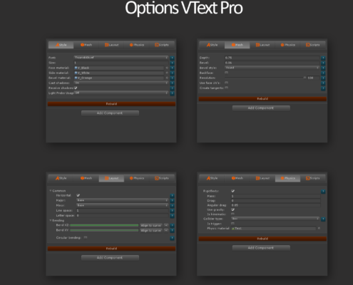 Vtext options