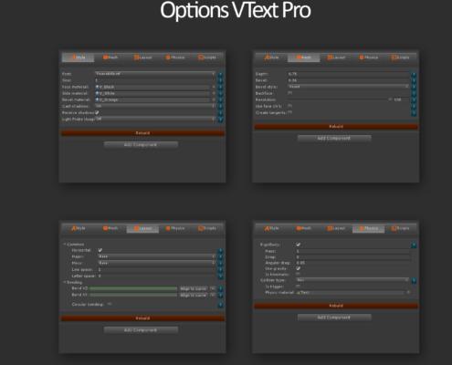 Vtext options